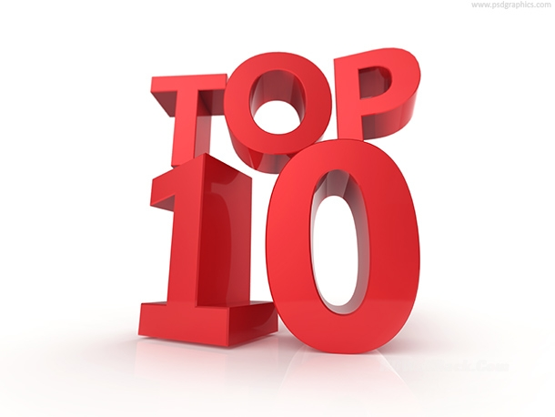 Top 10 and top 100, signs