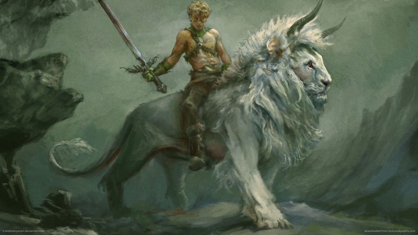 Warrior On A Lion Wallpaper Hd Wallpapers Hd Backgrounds Tumblr Backgrounds Images Pictures