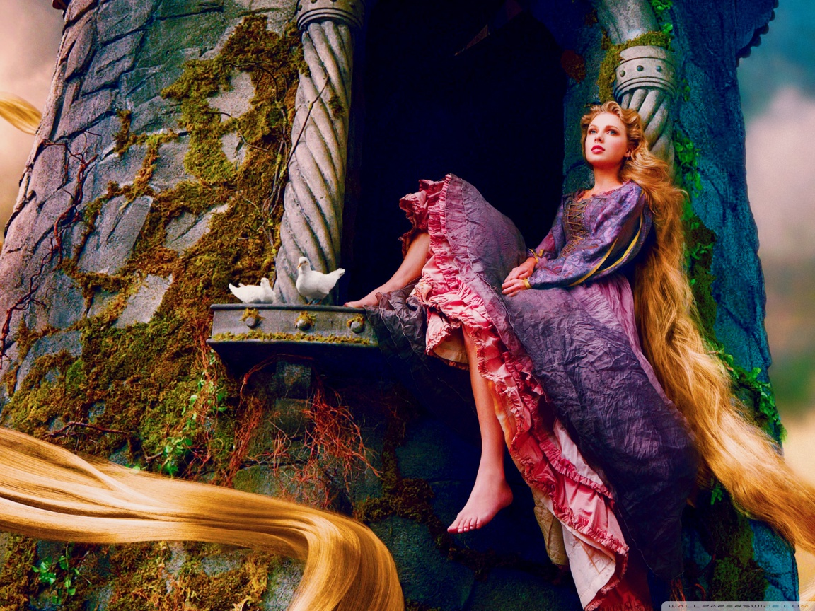 taylor swift as rapunzel wallpaper
