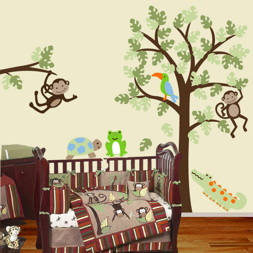 Remarkable Baby Room Monkey Wall Decals
