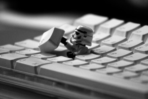 Stormtrooper in the keyboard wallpaper