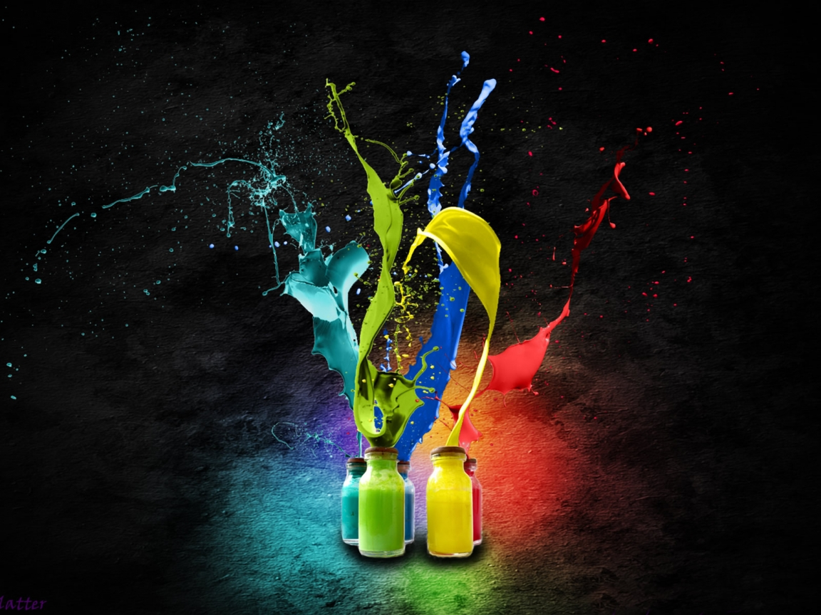 colourful bottles abstract wallpaper