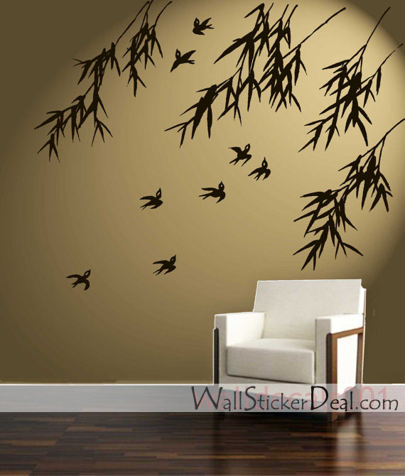 Birds-and-Bambo-Wall-stickers