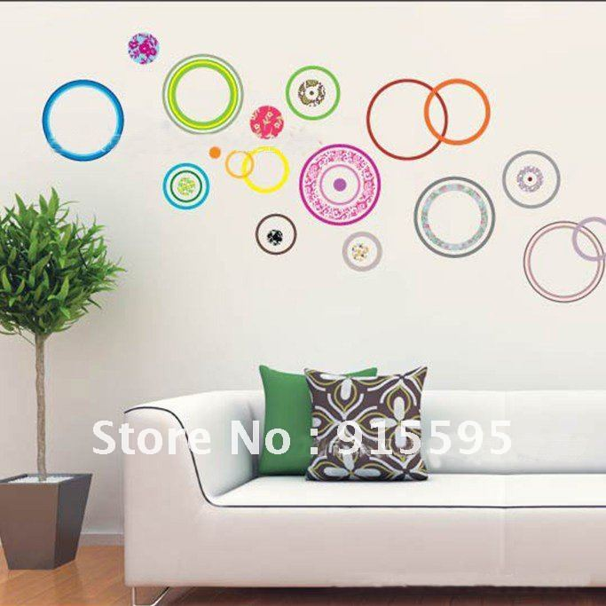 Free Shipping Hot-Selling Colorful Circles 3d