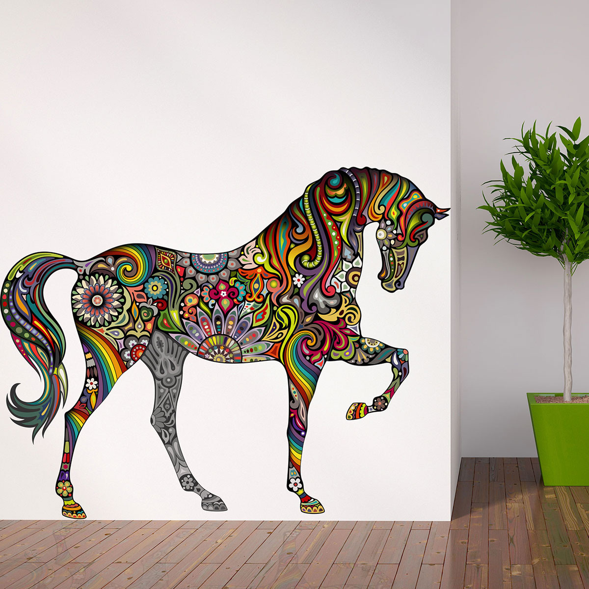 horse-many-colors-wall-sticker-decal