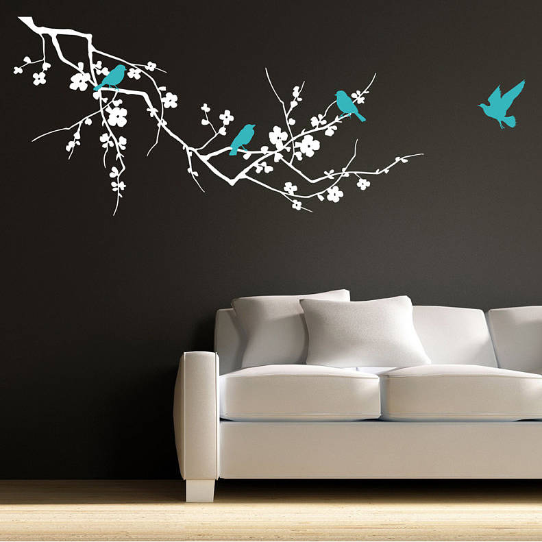 Original Birds On Branch Wall Sticker HD Wallpapers HD - Wall decals birds