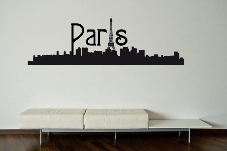 paris skyline wall decal wall sticker