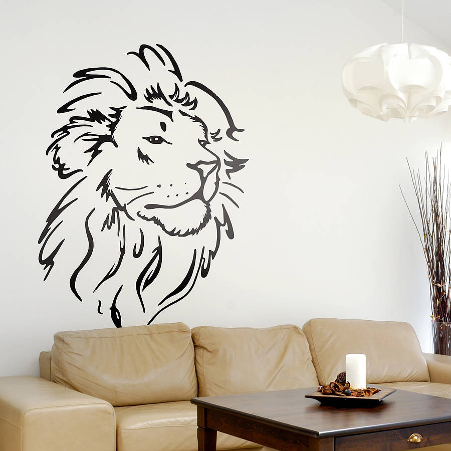 wall stickers lion