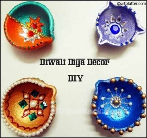 Ideas for decorating diyas
