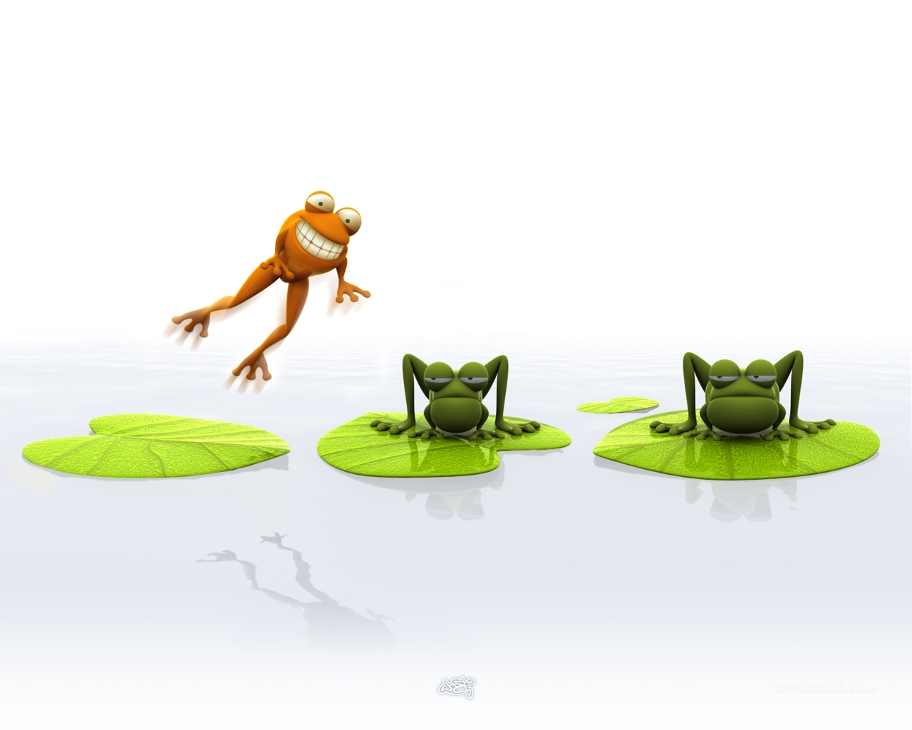 3D Frog Jump Animals Wallpapers