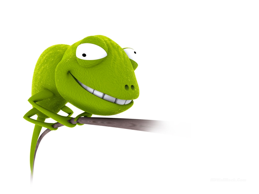 3D Funny Face Lizard Animals Wallpapers