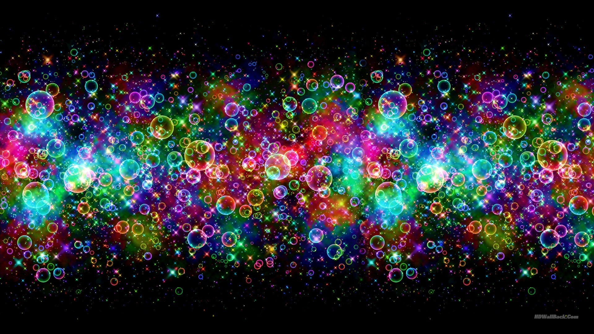Colourful 3D Bubbles Wallpapers HD
