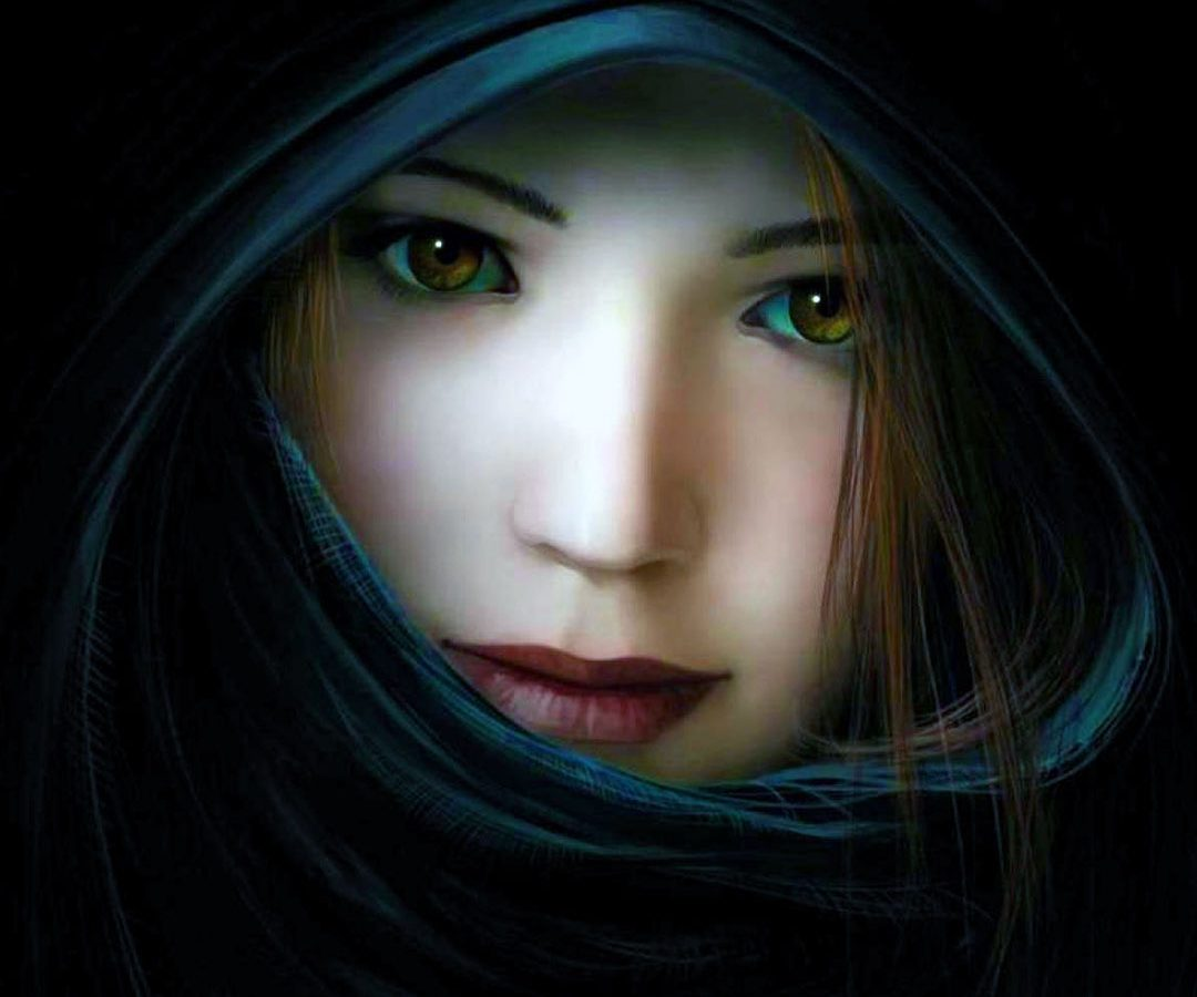 Beautiful 3d Girl with Black Background – HD Wallpapers ...