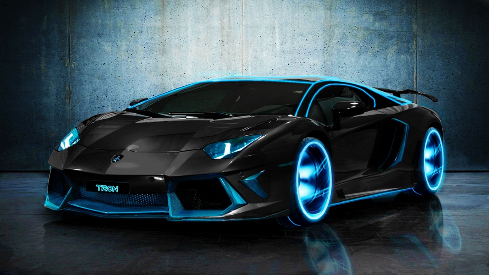 Tron Style Lamborghini Aventador 4k Hd Wallpapers Hd Backgrounds