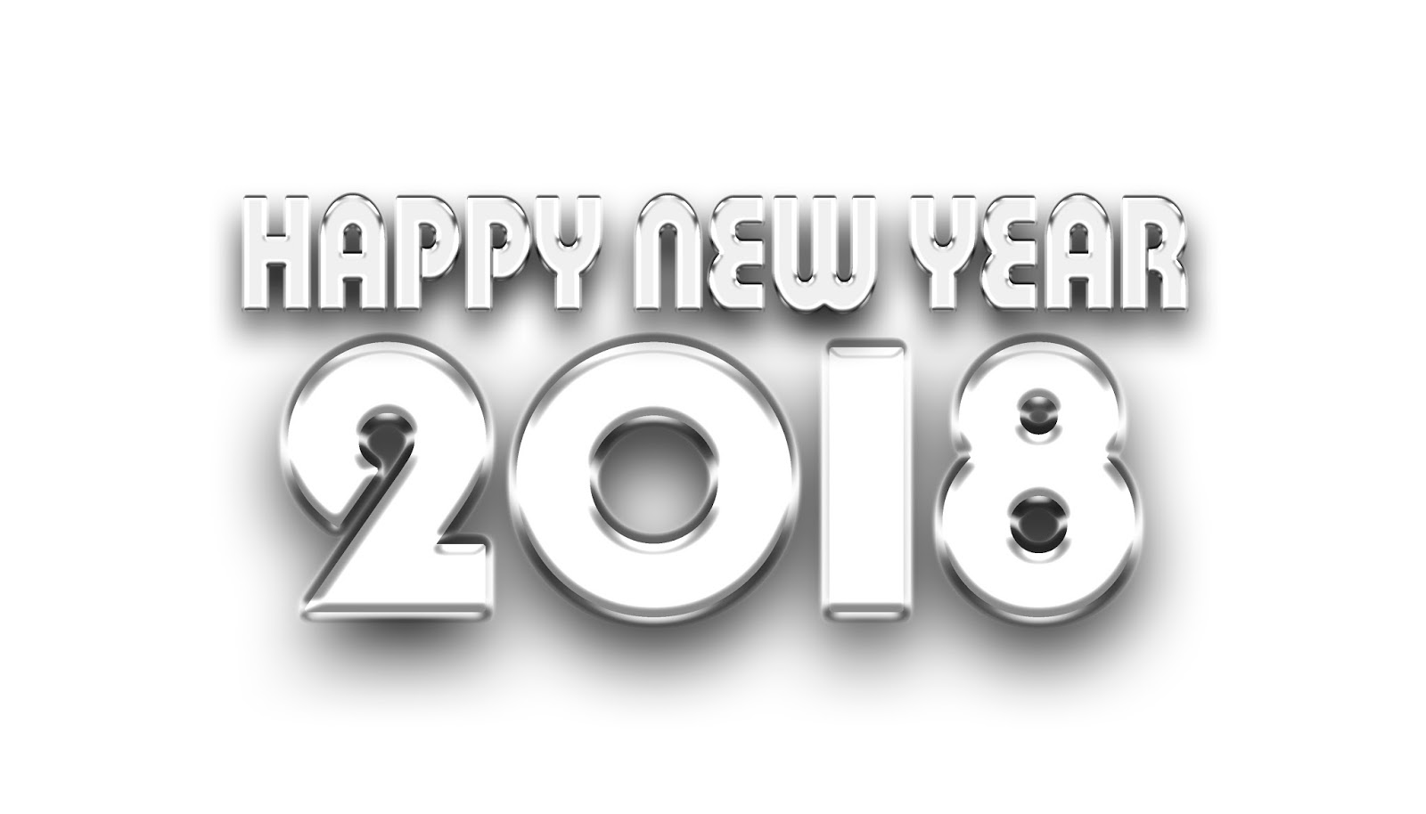 Happy New Year 2018 3d Text Card
