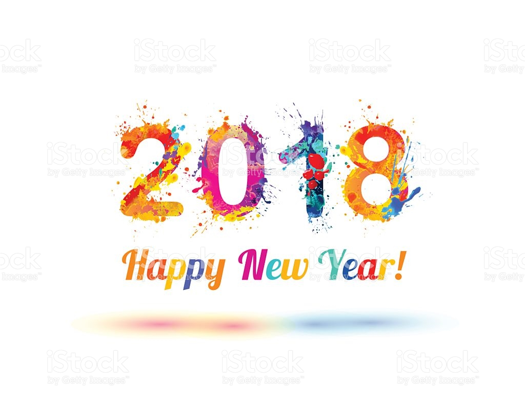 Happy New Year 2018 colors