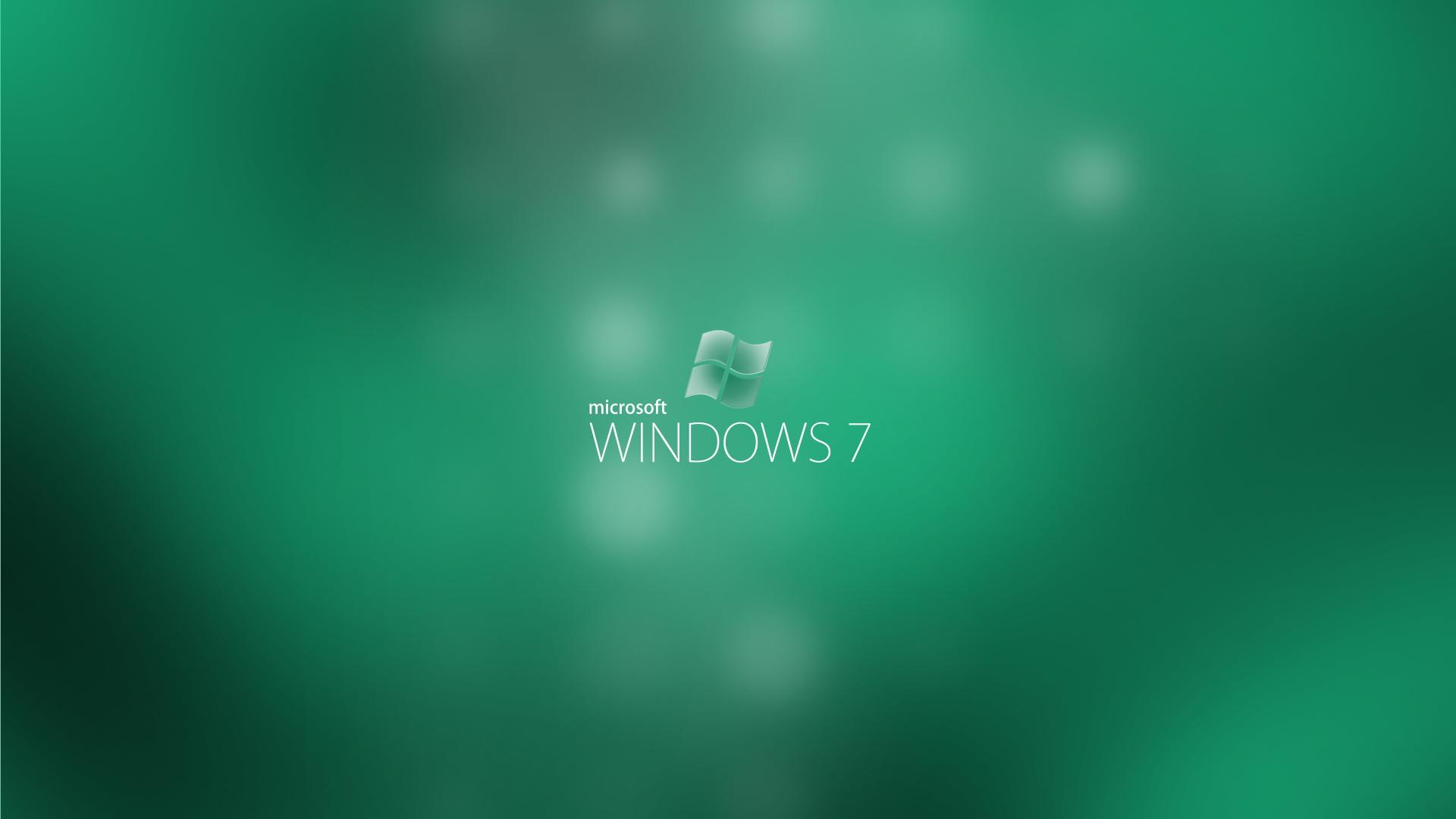 Microsoft Windows 7 green backgrounds