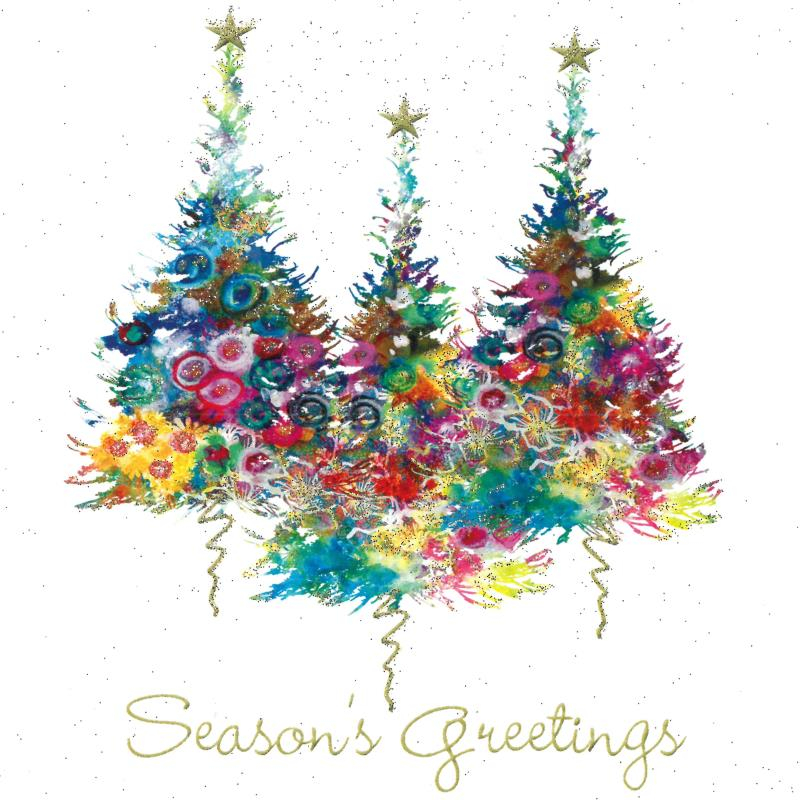 Sparkly Trees Christmas Cards