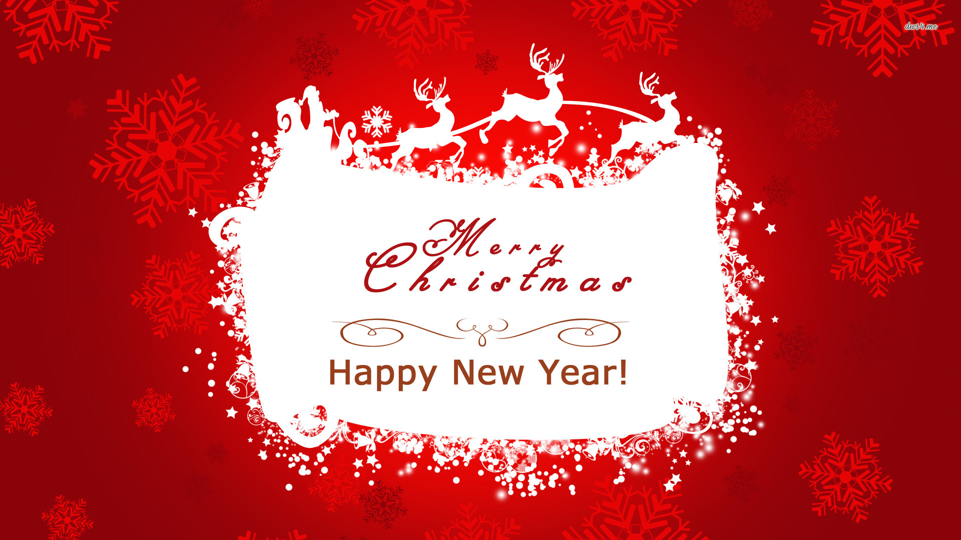 merry christmas and happy new year holiday wallpaper