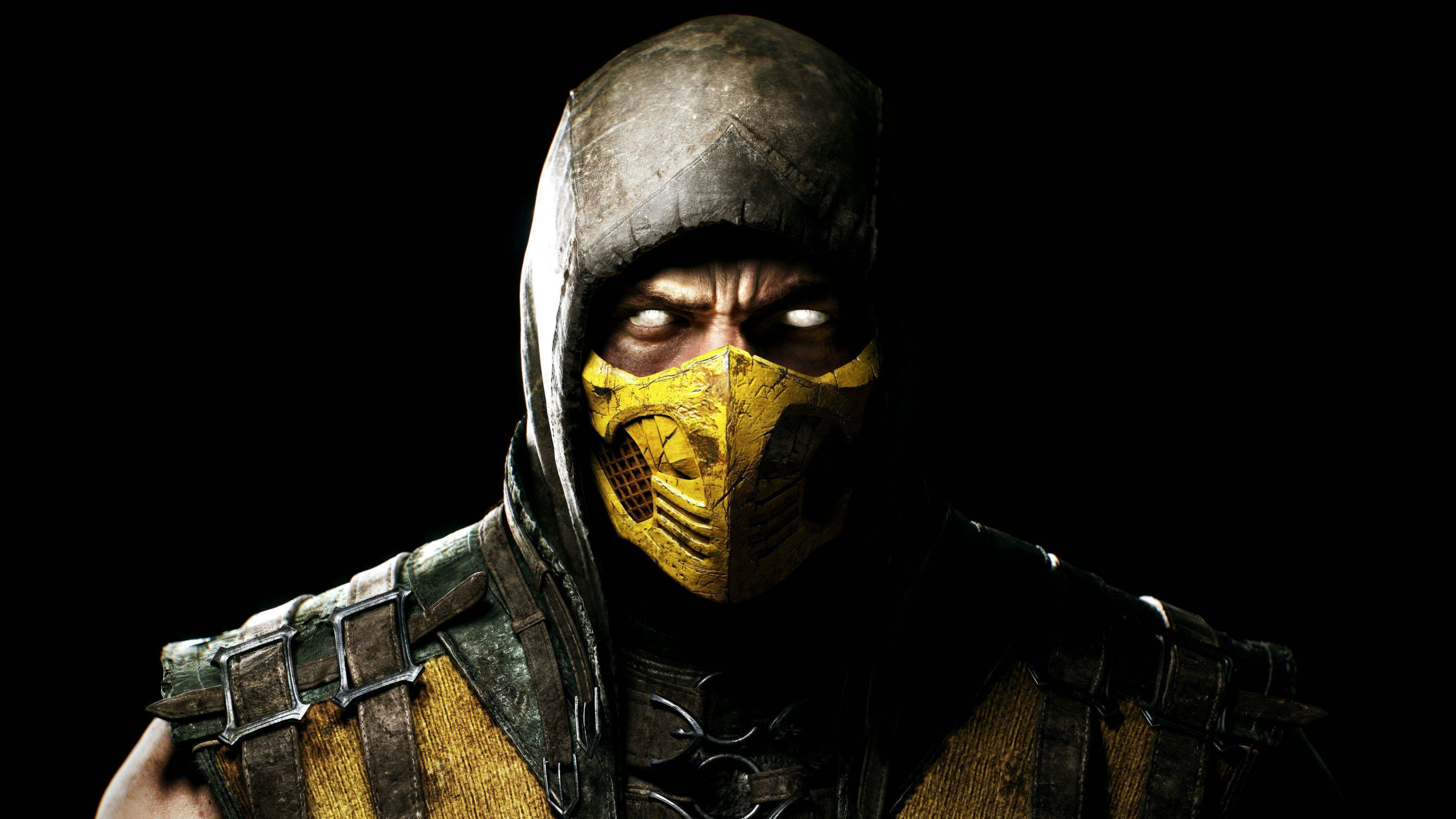 mortal kombat x scorpio ninja mask uhd wallpaper