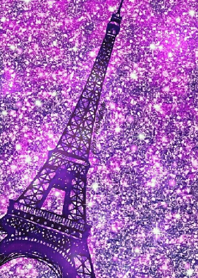 purple eiffel tower iphone android glitter wallpaper  u2013 hd