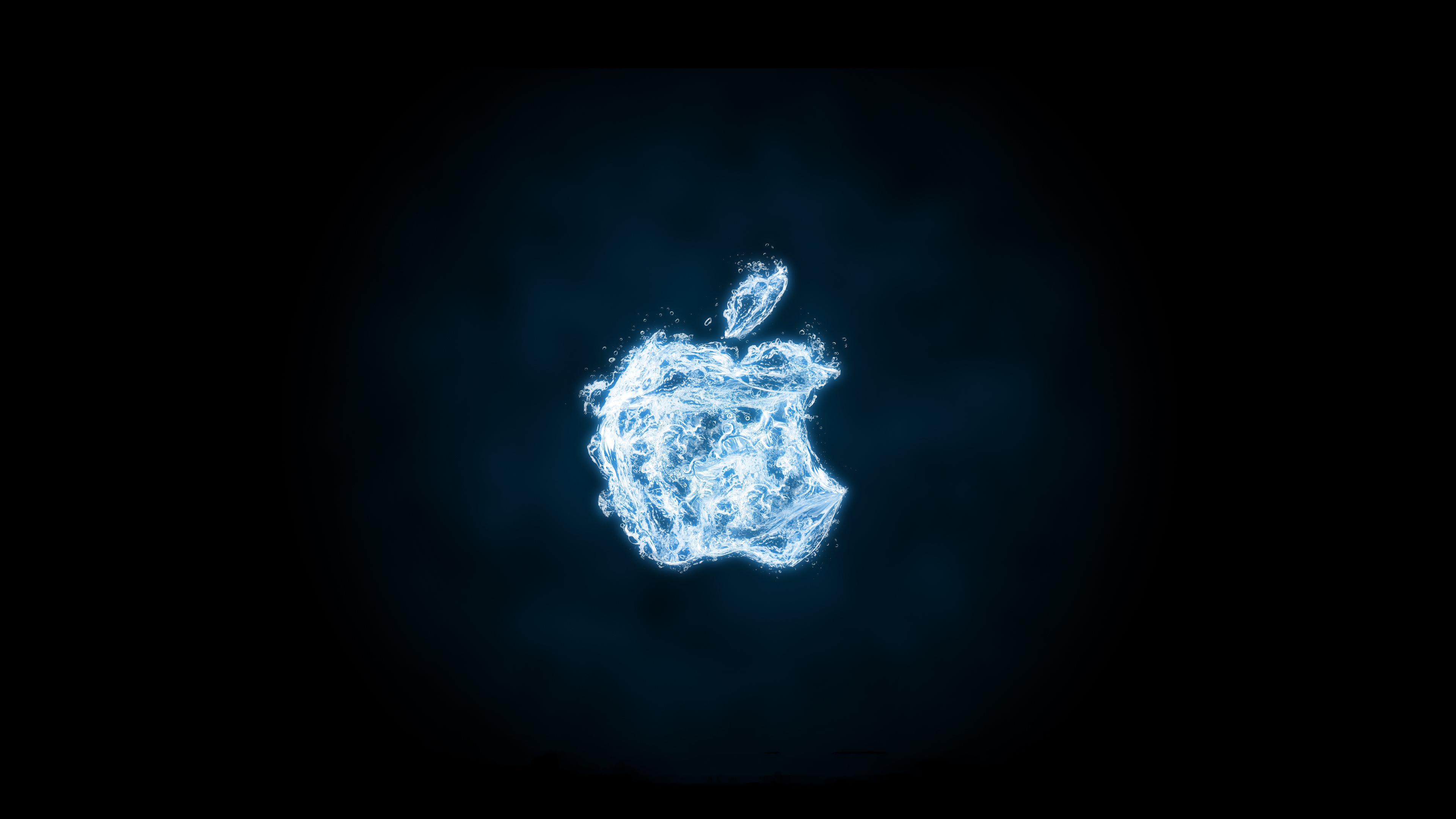 4k apple fire apple water widescreen hd-wallpapers