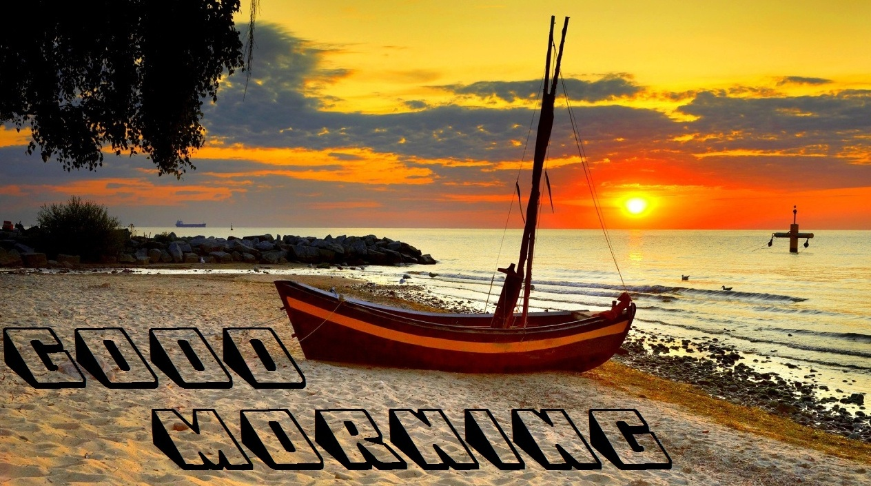 Good Morning Best Wishes with natural beauty