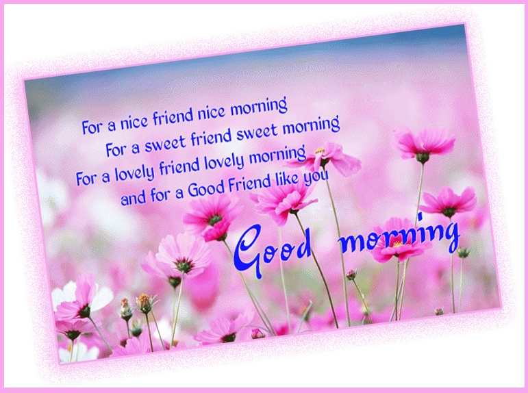 Good Morning greetings for Good Friend HD Image
