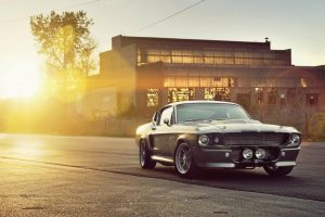 Muscle Car Sunset uhd wall