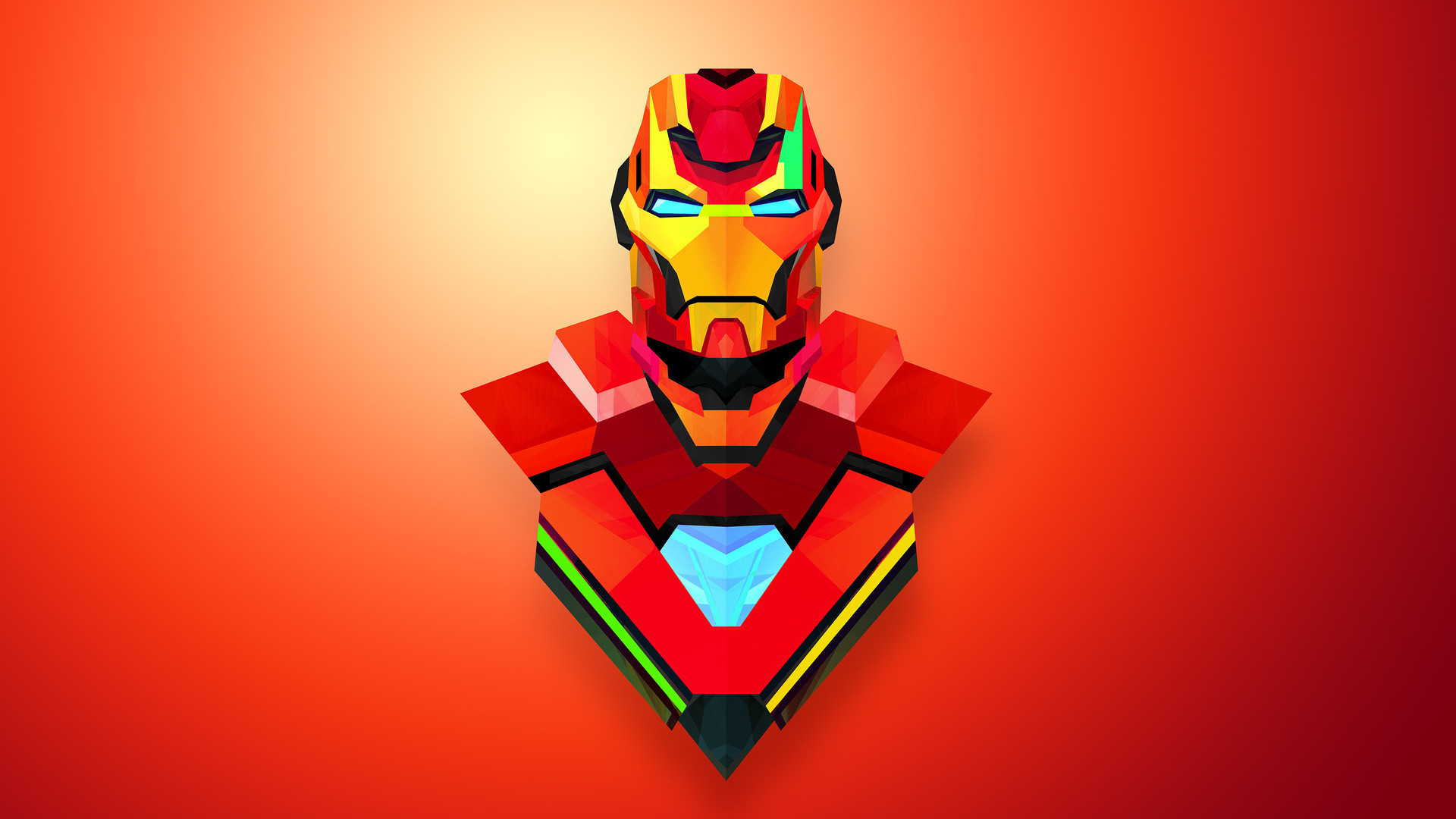 4K Gaming Wallpaper Red Iron Man Art