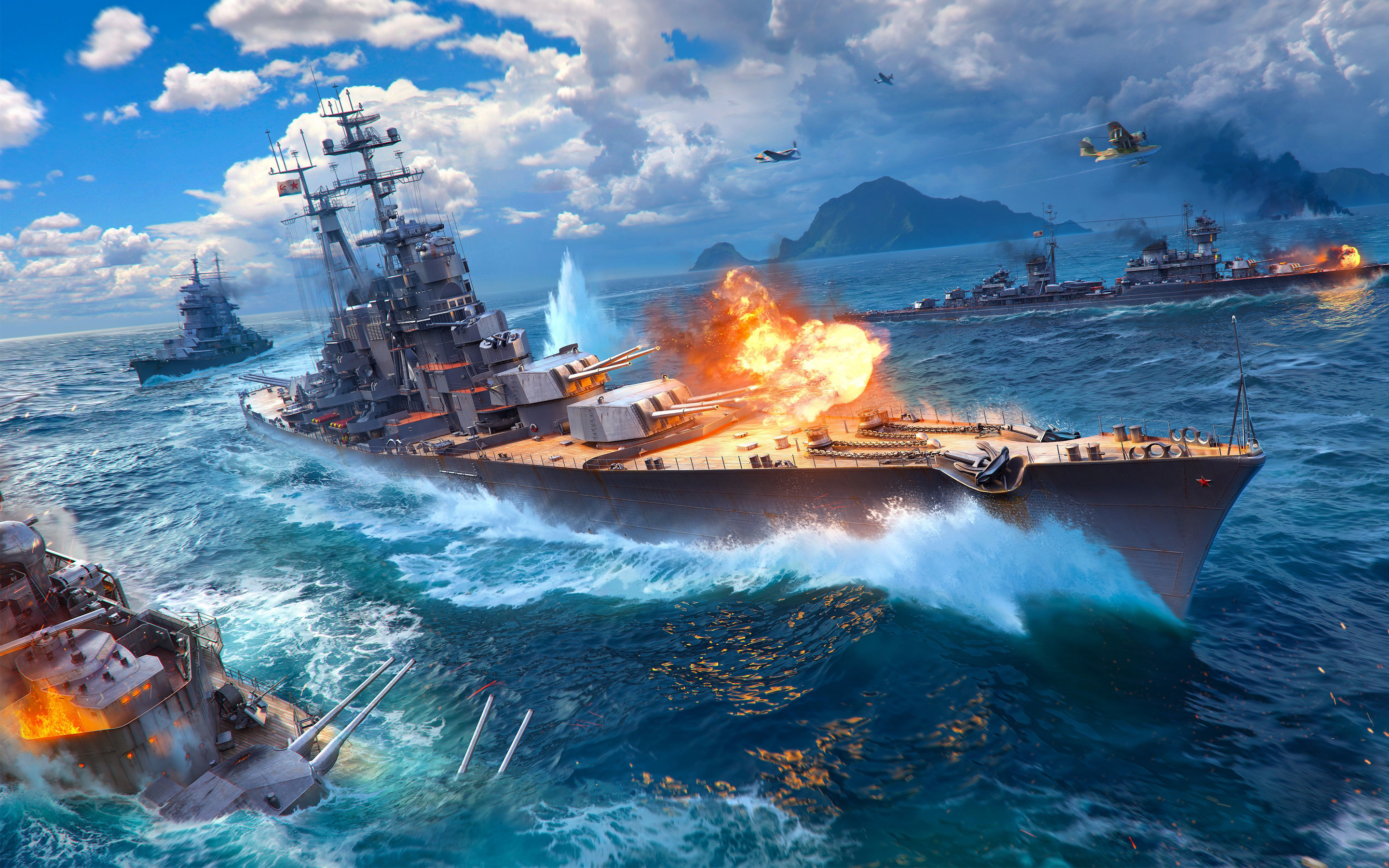 World of Warships Game 4K
