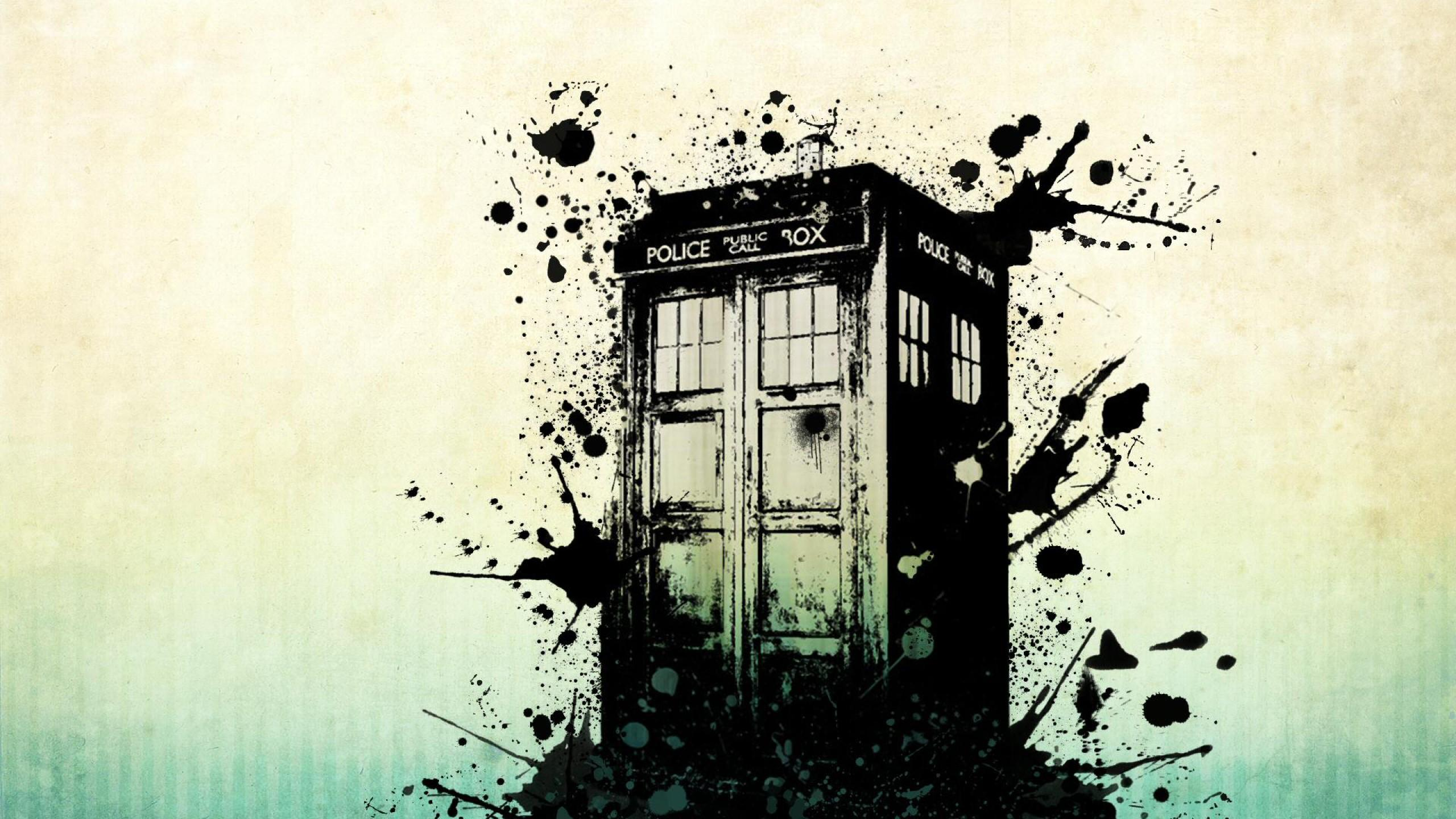 Abstract Doctor Who Wallpaper 4K