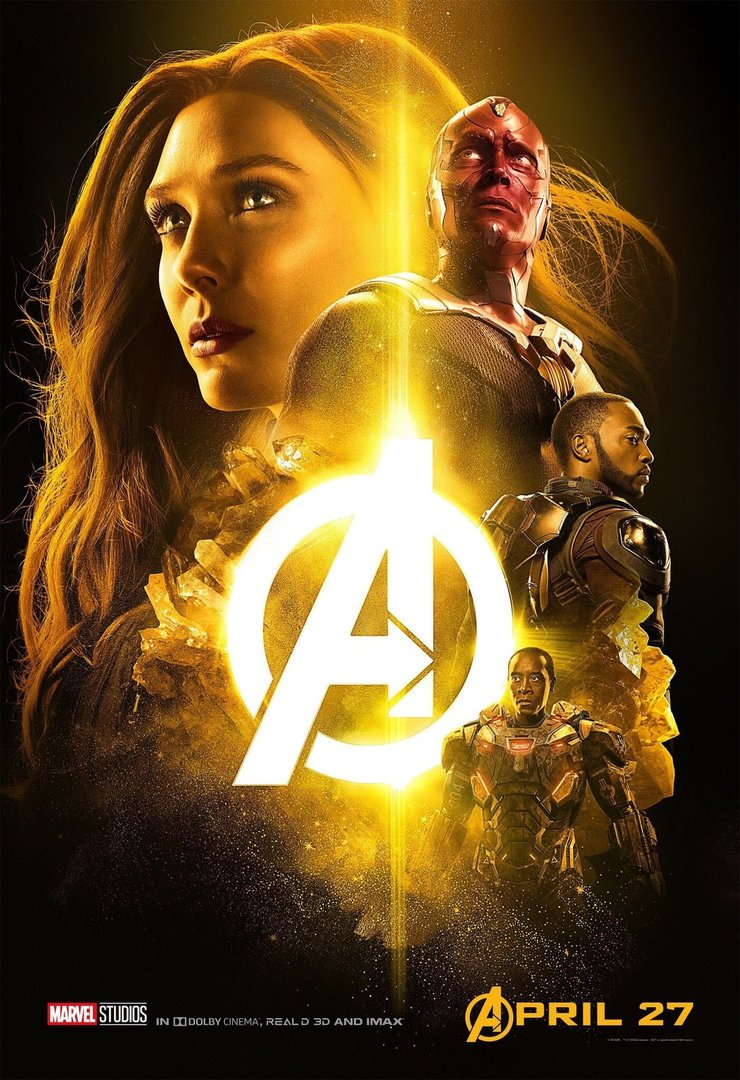 Avengers Infinity War Mind Stone Poster