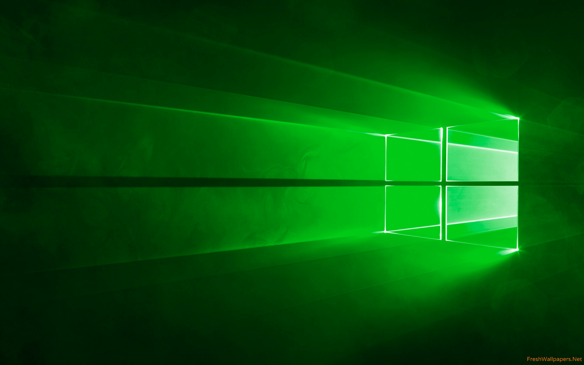 Windows 10 Official Green wallpaper 4k