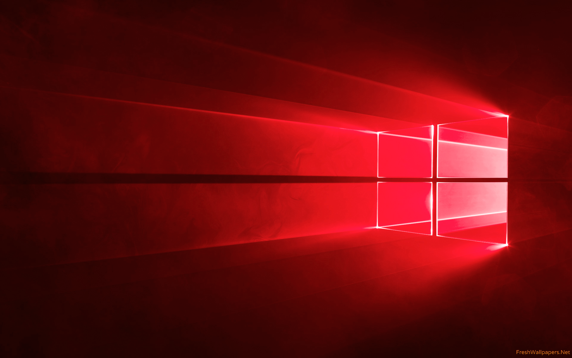 Windows 10 Official Red wallpaper 4k