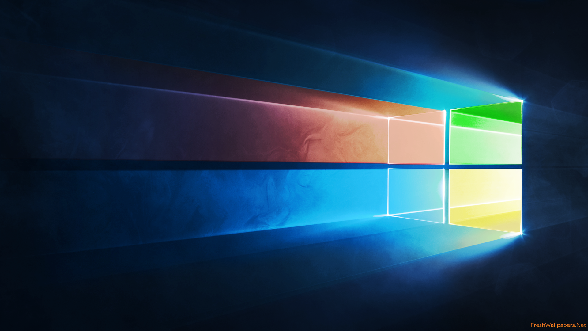Windows 10 Official in Four Colors wallpaper 1080p