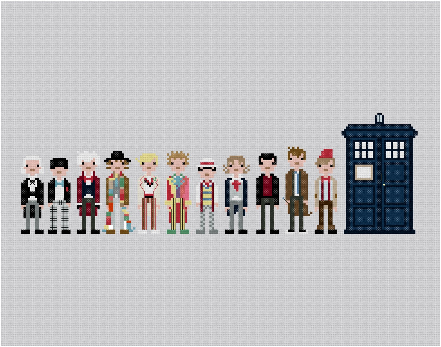 tardis pixel art doctor who