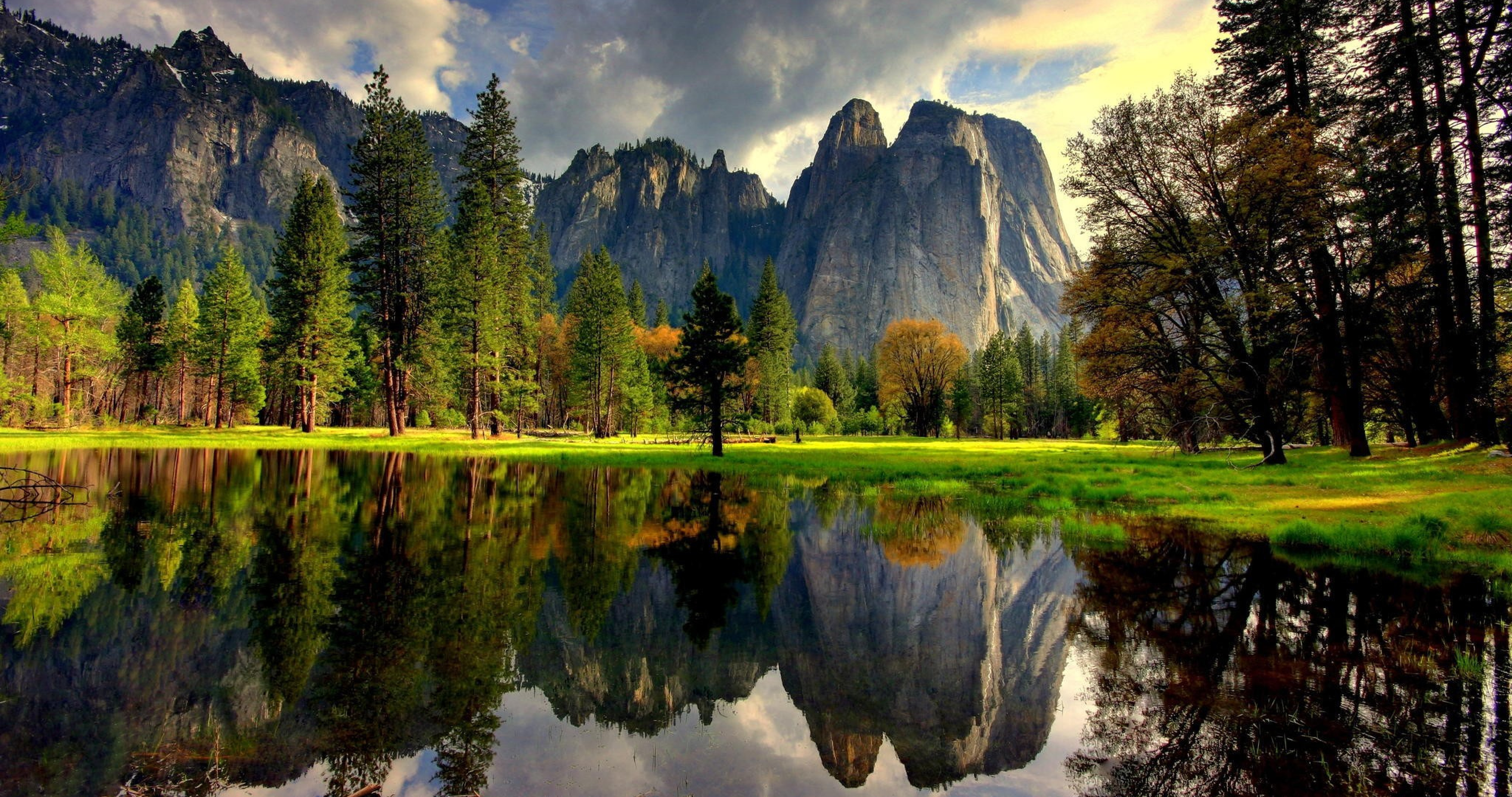 yosemite 4k green nature wallpaper