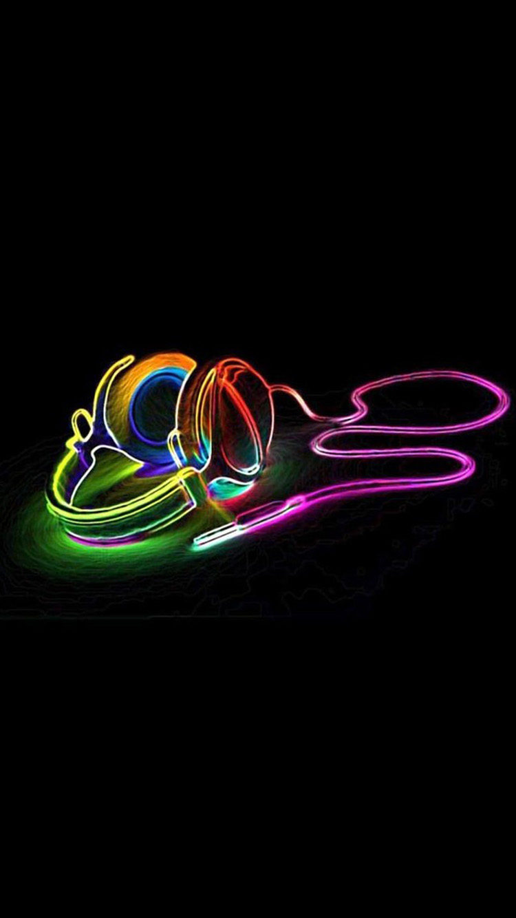 3D color earplugs iPhone 6 Wallpapers