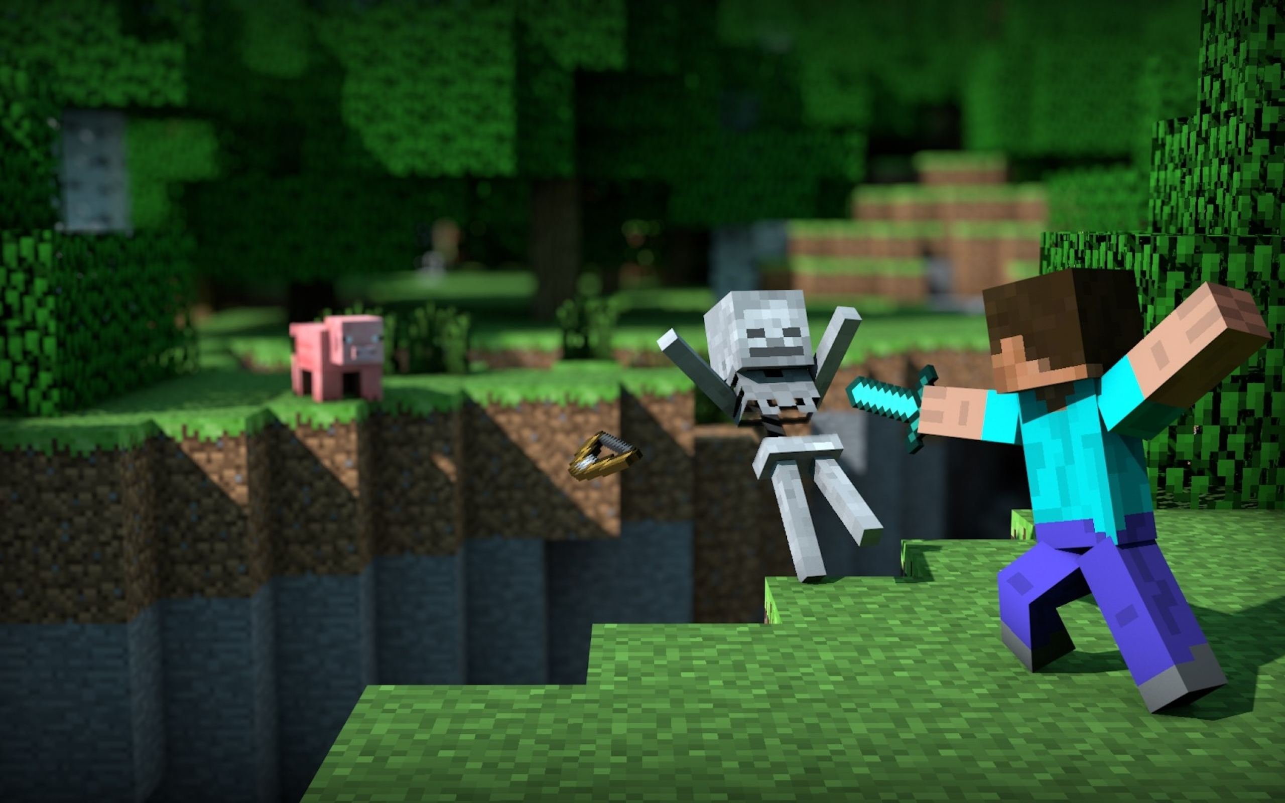 Download Wallpaper Minecraft Dual Screen - Minecraft-Skeleton-wallpaper  Trends_491371.jpg