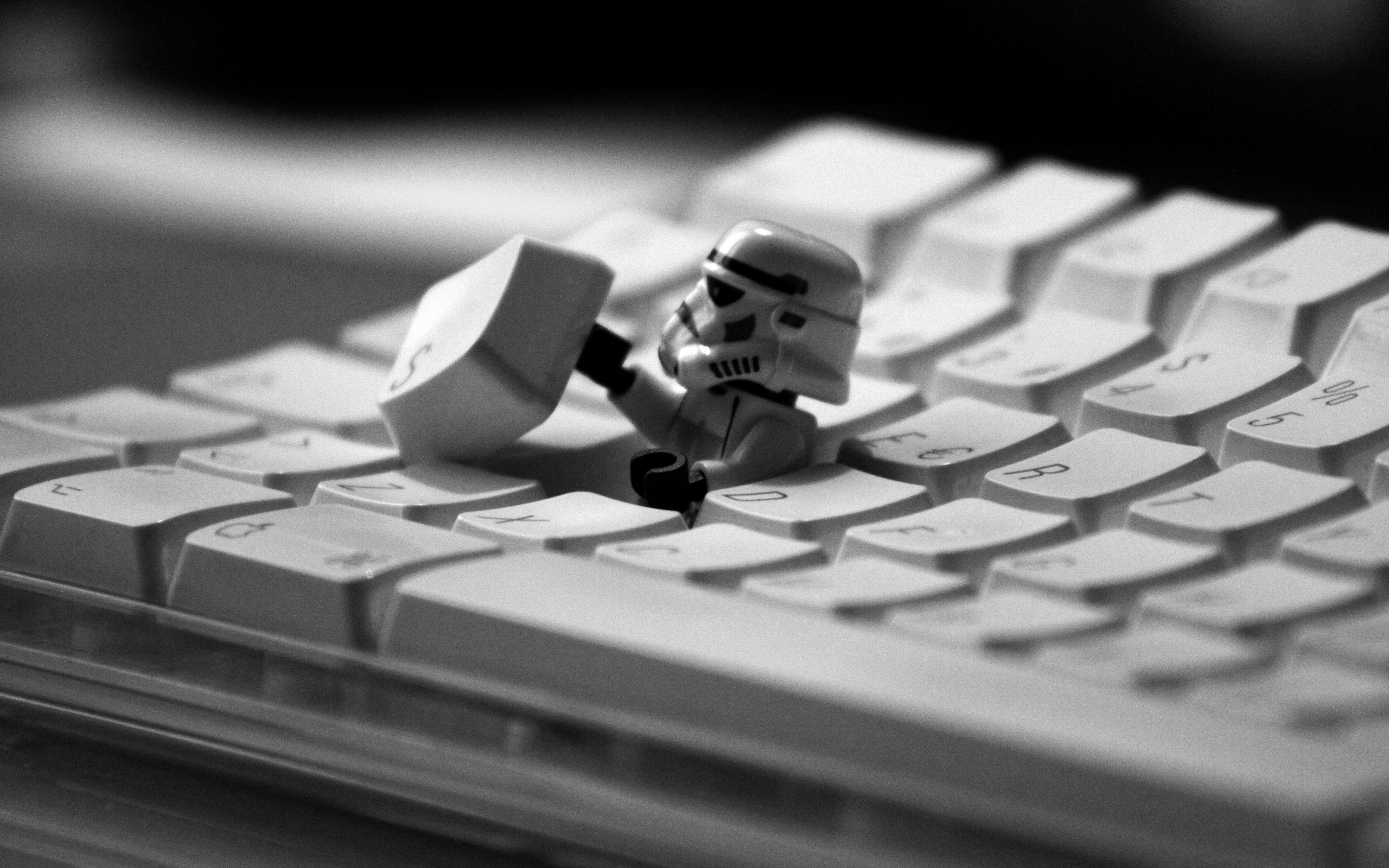 Stormtrooper In The Keyboard Wallpaper Hd Wallpapers Hd Backgrounds Tumblr Backgrounds Images Pictures