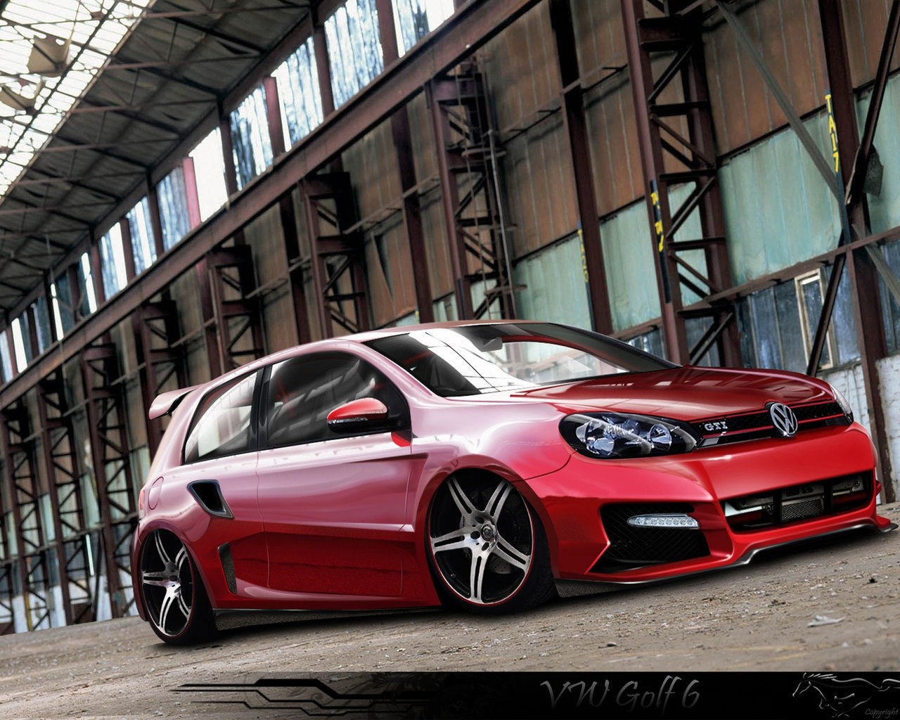 vw golf 6 gti tuning hd wallpapers hd backgrounds. Black Bedroom Furniture Sets. Home Design Ideas