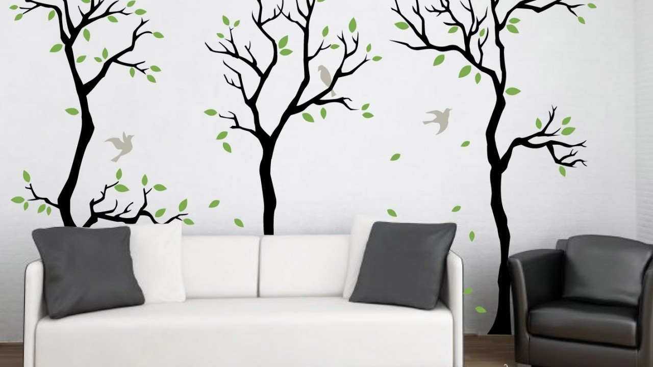 Forest-wall-decal-wall-decor-removable-matte-vinyl-wall