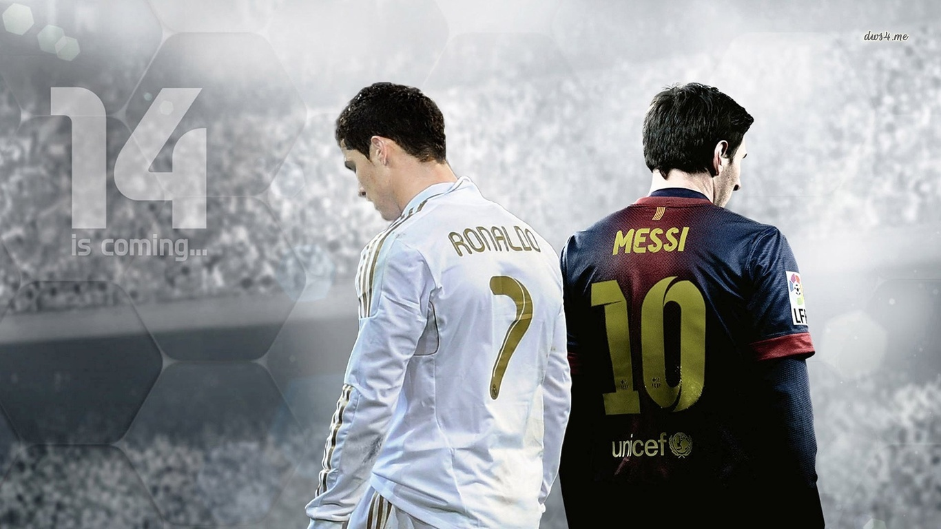 ronaldo and messi wallpaper