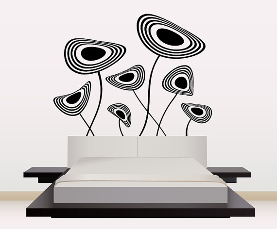 Groovy disc wall sticker