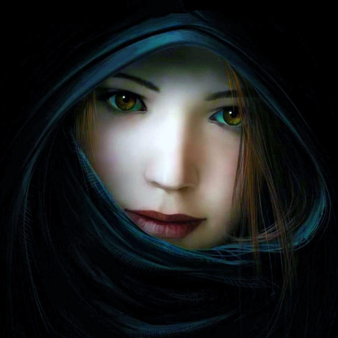 Beautiful 3d Girl With Black Background Hd Wallpapers