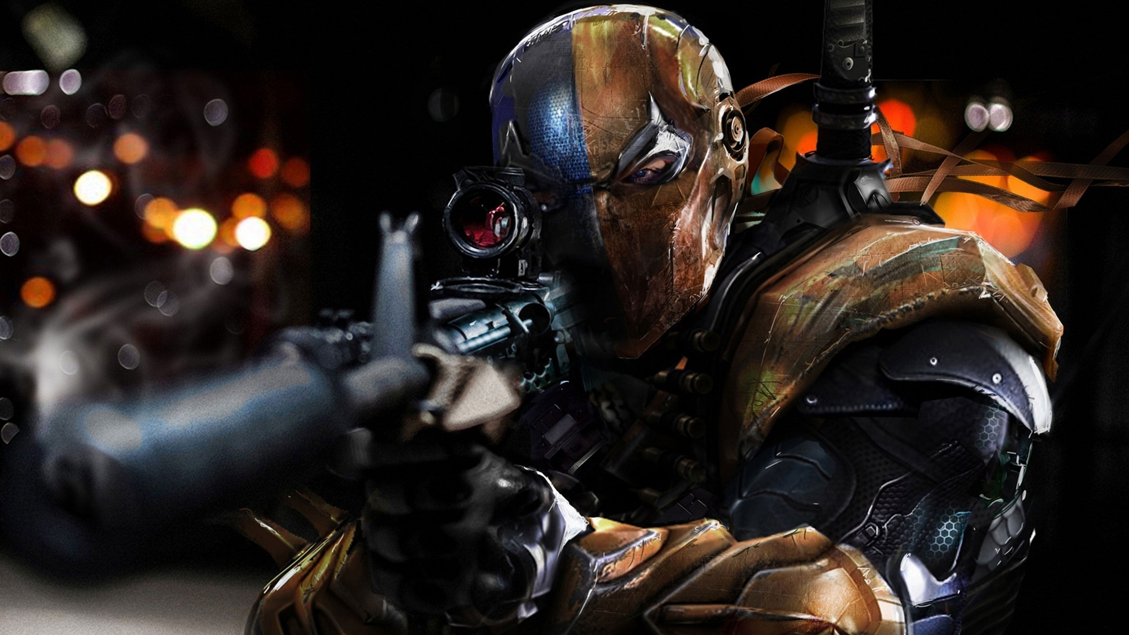4k Gaming Wallpaper Deathstroke Batman Arkham Origins