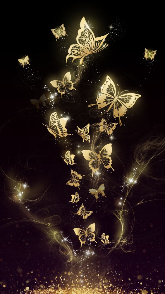 Beautiful Golden Butterfly Live Wallpaper Android And Ios Hd Wallpapers Hd Backgrounds Tumblr Backgrounds Images Pictures