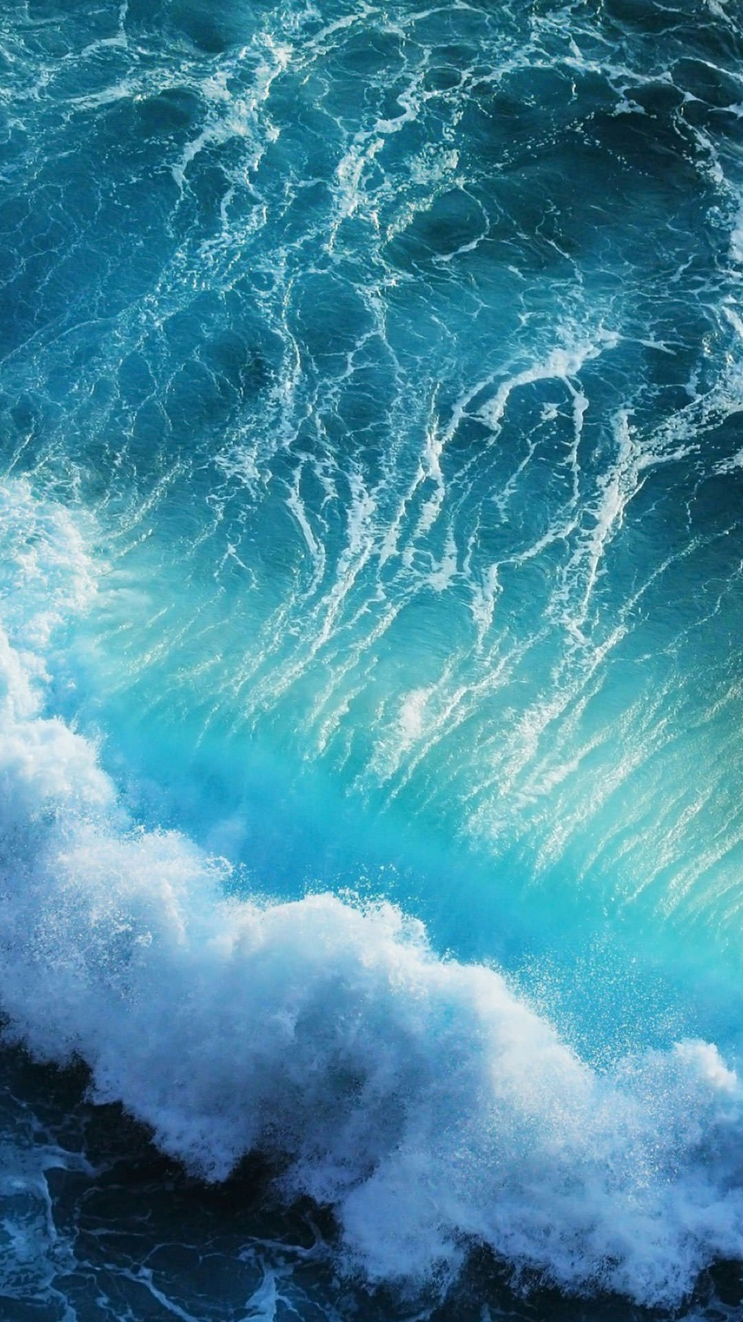 Blue Waves iPhone X Wallpaper