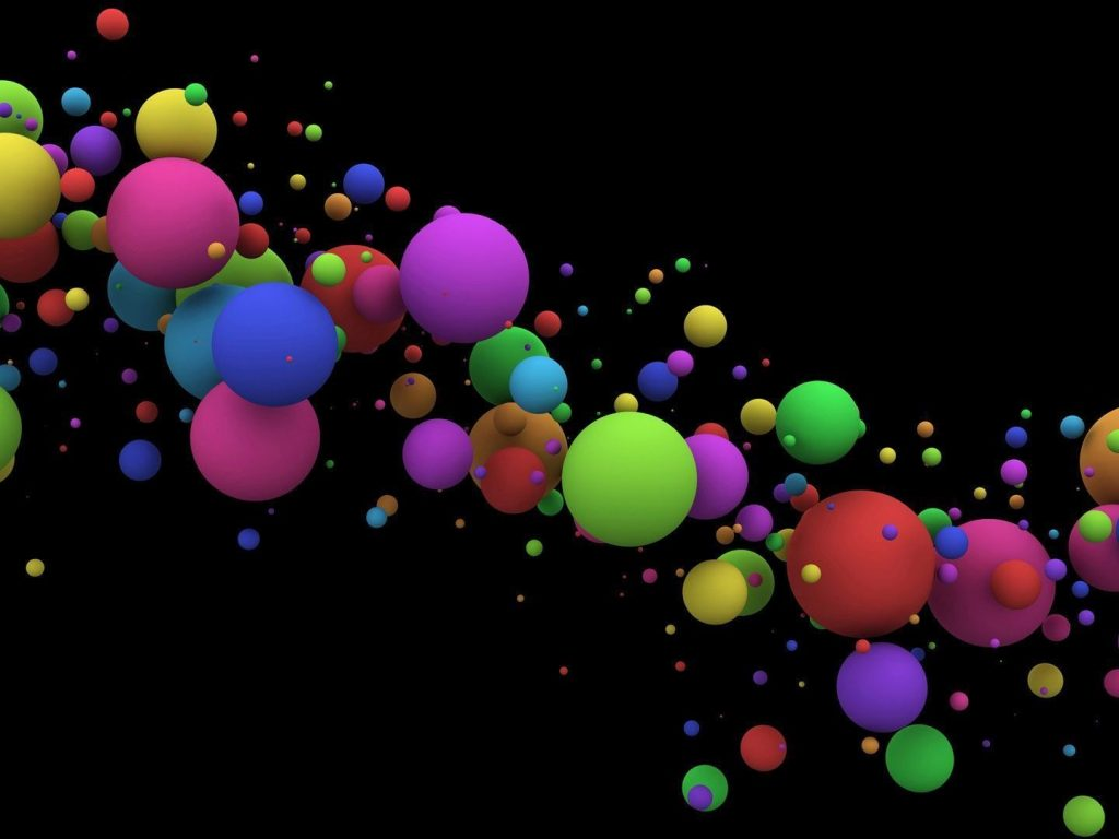 3d Bubbles Wallpaper: Colorful Bubbles Wallpaper